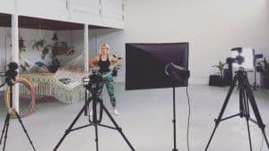 Deanne Love Making Hula Hoop Tutorials at 11Past11Studio