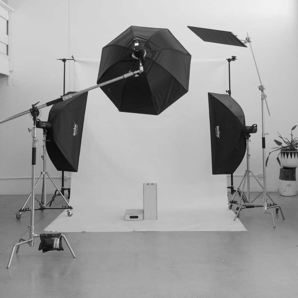 Studio Hire Photography Gold Coast Studio Set up with three lighting