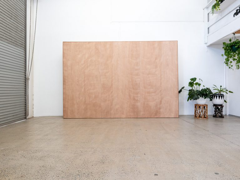 Plywood Gallery Wall